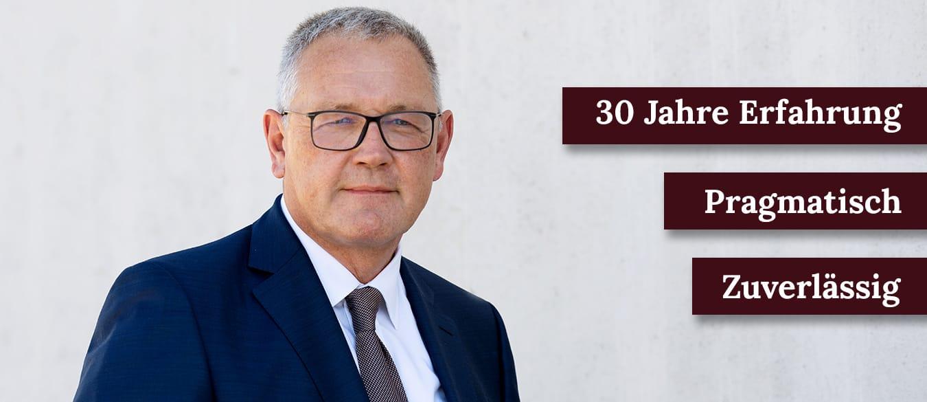 Anwalt Günter Stallecker - Erfahren, Pragmatisch, Zuverlässig